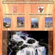 Parco Fluviale del Nera e zone limitrofe carta dei sentieri
